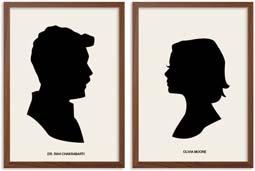 Izombie Liv & Ravi Silhouette Portrait Art Prints