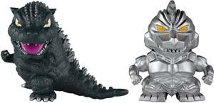 1993 Godzilla And Heisei Mechagodzilla Chibi Figures