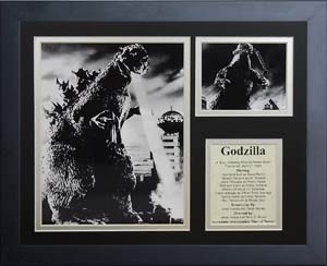 Godzilla Framed Photo Collage By Legends Never Die