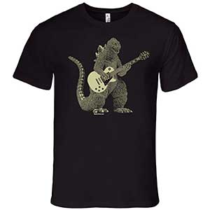 Godzilla Playing Vintage Electric Guitar
