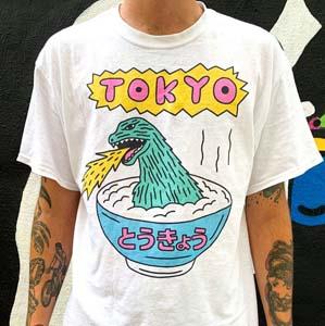 Tokyo Godzilla In A Bowl T Shirt